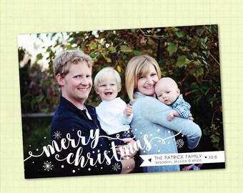 Photo Christmas Card / Printable Christmas Card / Digital Christmas Card / Merry Christmas Card