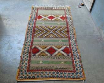 FREE SHIPPING Antique Mishwani Barjasta Kilim Carpet Mixed Rug