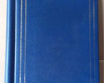 Photo Album Blue Photo Album Vintage Photo Album Old Photo Album Pictures Organizer Memory book Retro Photo Album Gold Ornament Photo Album