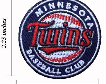 """Minnesota Twins Logo Size 2.25"""" Embroidered Iron 1 Patches"""
