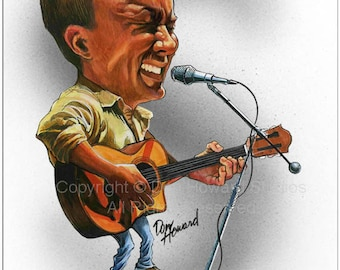 Don Howard's Depiction of Dave Matthews Celebrity Caricature
