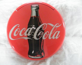 Vintage Coca Cola Sign, Wall Decor,  Red Coke Disc Telephone, Phone Rings, Lights Flash, Coke Song Plays, Retro Coke Sign,  Phone Gift