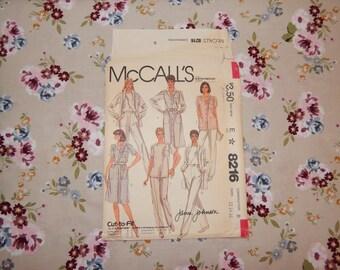 Misses Uniform / Candy Striper / Scrubs Pattern - 1982 McCall's 8216