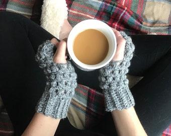 Women's fingerless gloves, crochet wrist warmers, crochet Ashlyn gloves, fingerless mitts, cute winter gloves, fingerless crochet mittens,