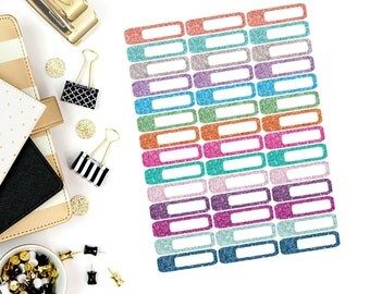 Glitter Mini Label Stickers! Perfect for your Erin Condren Life Planner, calendar, Paper Plum, Filofax!