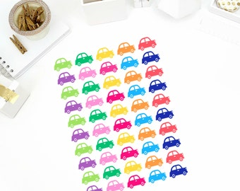 Colorful Car Stickers! Perfect for your Erin Condren Life Planner, calendar, Paper Plum, Filofax!