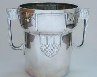 WMF Art Nouveau Jugendstil Secessionist c1910 Silver Plate Champagne Bucket