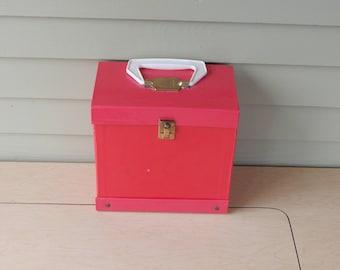 Vintage  45 RPM record case - vinyl storage box