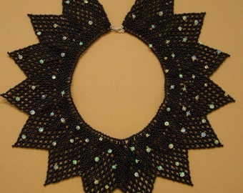 Spectacular Beaded Collar Necklace with Opals