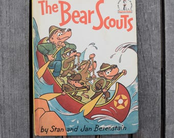 Vintage 1967 The Bear Scouts by Stan and Jan Berenstain Dr. Seuss Beginner Books Hardcover Book Club First Edition Book Boy Scouts Boat