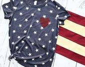 American Heart {Stars Tee}