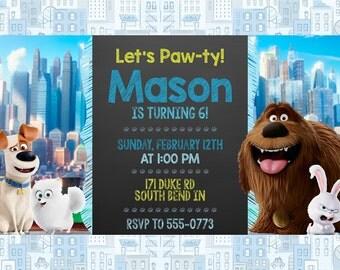 Secret Life of Pets Invitation