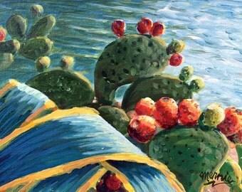 Cactus Pears Original Acrylic Painting