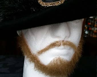 Handmade Captain Barbossa Ventilating Lace Fake Caribbean Pirate Full Beard