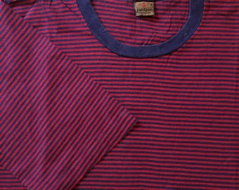 Vintage 1960s Jantzen Striped Boarder Tee Mens Size XS/S Made In USA Rare