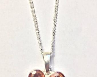 Topaz Flower Pendant Necklace