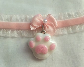 Kitten Paw Choker Collar
