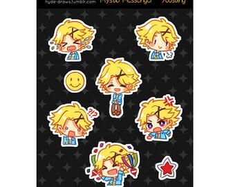 """Mystic Messenger Yoosung 3x4"""" Kiss Cut Sticker Sheet"""
