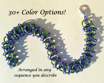 Customizable Celtic Visions Chainmail Bracelet, chainmaille jewelry, chainmaille bracelet, custom jewelry, made to order jewelry