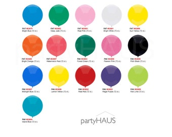 """18"""" Round Balloons, Pkg 6, Really round not Oval, New!!!Latex, 18 Inch, Latex Balloons, round latex balloons, round, balloons, pomegranate"""
