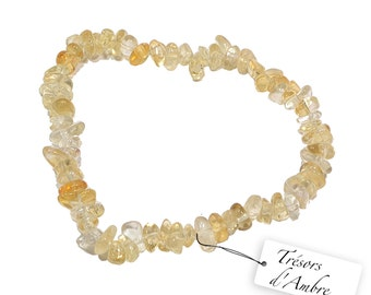 Baroque in Citrine - natural stone - Lithotherapy Reiki bracelet - against Fatigue