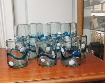 Hand made Set of 6 Tumblers and 6 Juice Glasses