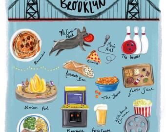 Williamsburg Brooklyn. Art Print. New York, NY 11x14