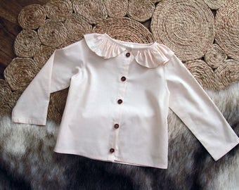Ruffle Collar Blouse Custom Sz 1-6