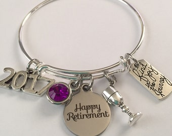 retirement bracelet-happy retirement bracelet-find joy in the journey