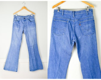 70s Levis Jeans 34, Bell Bottoms, 70s Jeans, Vintage Clothing, Hippie Jeans, Boho Jeans, 70s Clothing, Bell Bottom, Vintage Jeans Tall Long