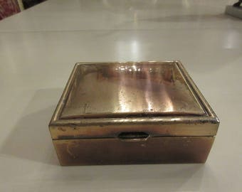 SILVER PLATED TRINKET Box