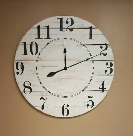 18in Diane farmhouse wall clock Oversized