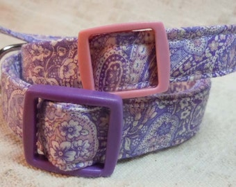 Purple Dog Collar / Paisley Dog Collar / Small Dog Collar / Extra Small Dog Collar / Violet Dog Collar / Lavender Dog Collar / Cool Dog