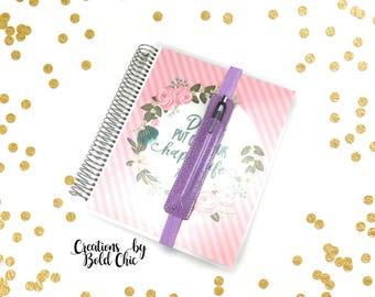 Lavender single pen holder planner band - planner accessory - pen holder - planner band