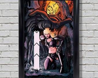 Magik and Dormammu - X-men Print