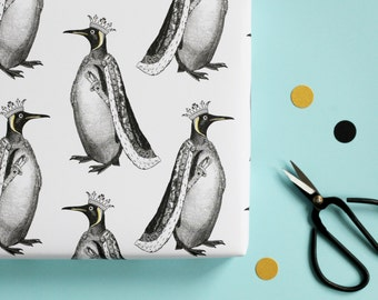 King Penguin Wrapping Paper
