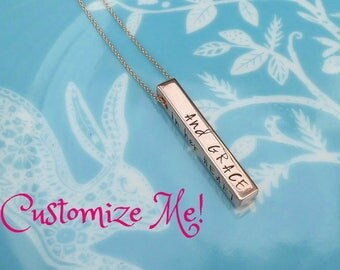 Custom Quote Necklace, Copper Personalized Necklace, Choose your own Quote, Inspirational Jewelry, Hand Stamped, Inspirational Gift