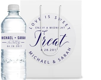 10+ Wedding Welcome Bags, Water Bottle Labels, Favor Bag, Wedding Welcome Gift, Wedding Favor, Custom Label, Party Gifts, Favor Label
