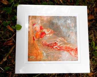 My Granny Breeds Dragons - Large Mounted Fine Art Giclee Print