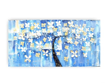 Large paintings,  ORIGINAL paintings, canvas wall art, painting on canvas, paintings, abstract,wall hanging, flower blossoms, artwork,by KT