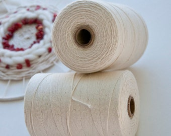 Natural Cotton Warp Thread || Weaving supplies warp thread fiber art DIY weaving DIY boho