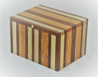 Striped Australian Timber handcrafted wooden box
