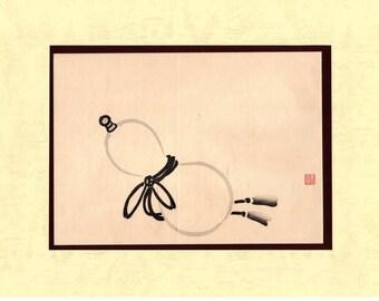 1891, Japanese antique woodblock print, Mochizuki Gyokusen