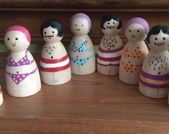 Wooden bathing beauties, can be customised.