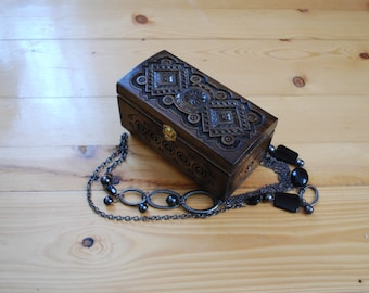 Ring box Jewelry wooden box Carved wood box Wedding gifts Wood carvings Wood carving