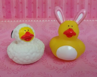 Adorable Easter  Spring Rubber Duck Rubber Duckies ~ 5 Ducks