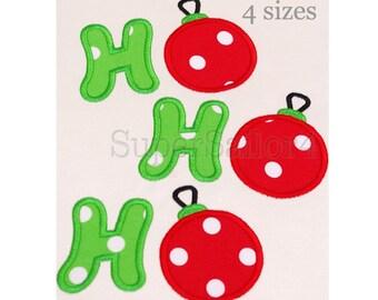 HO HO HO applique design, Ho ho ho embroidery, christmas applique design