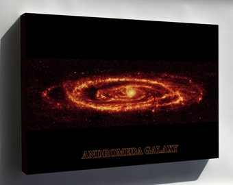 Canvas 24x36; Andromeda Galaxy Taken By Spitzer P3