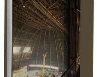 Canvas 24x36; Goodyear Airdock Interior