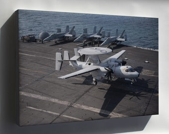 Canvas 24x36; Grumman E-2C Hawkeye Uss Harry S. Truman (Cnv-75)